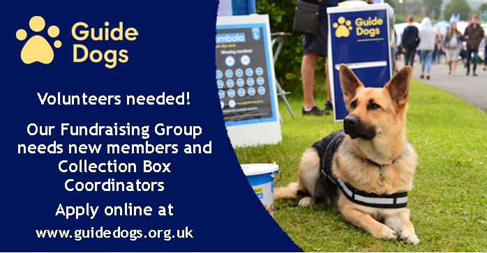 Volunteers needed Guide Dogs for the Blind Association